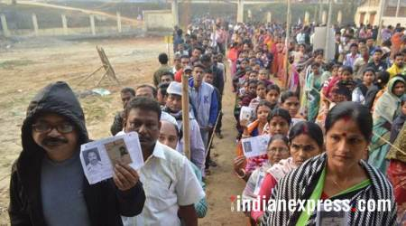 tripura photos, tripura election images, polling pics, northeast elections pictures, tripura assembly election 2018 image, manik sarkar photo, congress, cpim, voter turnout, northeat polls images, indian express