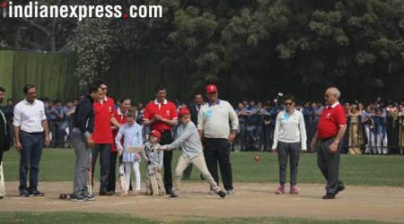 Justin Trudeau plays cricket