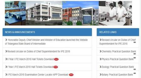 Download Telangana Intermediate exams 2018 hall tickets from tsbie.cgg.gov.in