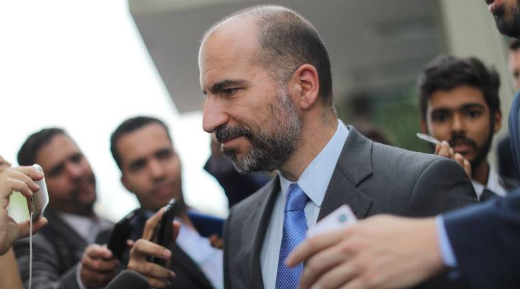 Uber CEO Dara Khosrowshahi ride-hailing firms Uber Japan services taxi services Ola transportation service Soft Bank Uber investment Asian taxi market