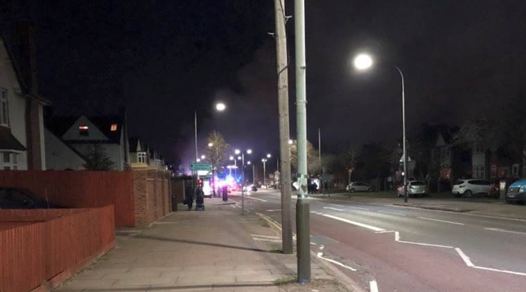 Six injured as blast destroys building in UK
