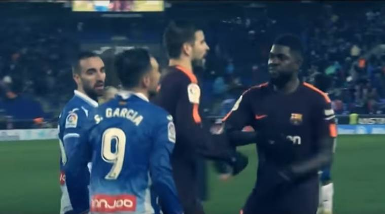 Pique had to separate Umtiti and Sergio Garcia in the tunnel