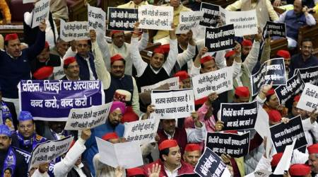UP Assembly: Protesting Opposition MLAs throw paper balls, balloons atGovernor