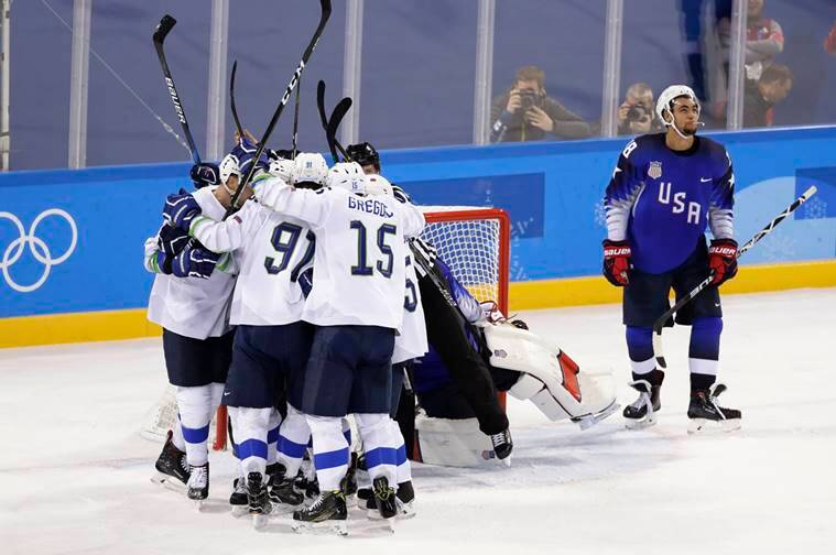 Ice hockey - Slovenia down U.S. 3-2 in overtime