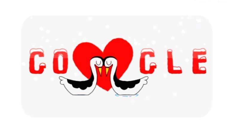 valentine's day, valentine's day celebrations, valentine's day doodle, valentine's day google doodle, valentine's day google, google celebrates valentine's day, Indian Express, Indian Express news