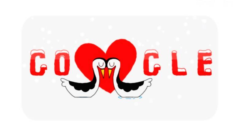 valentine's day, valentine's day celebrations, valentine's day doodle, valentine's day google doodle, valentine's day google, google celebrates valentine's day, Indian Express, Indian Express news