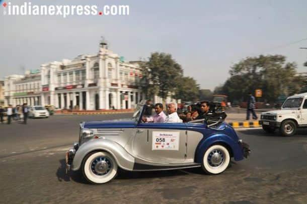 vintage car rally 2018 delhi, vintage car rally 2018