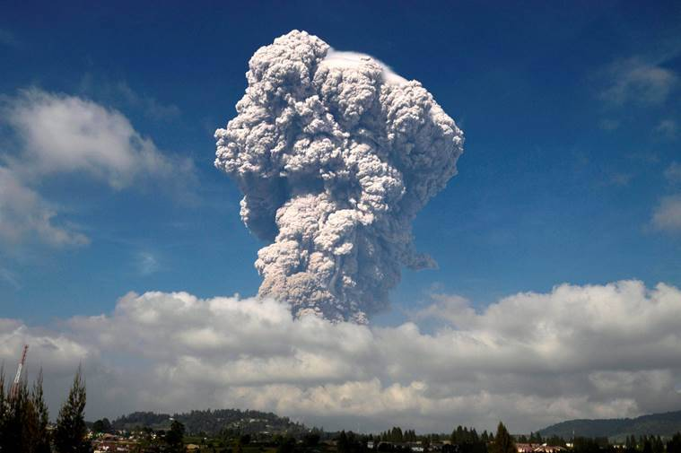 Indonesian volcano unleashes towering ash column