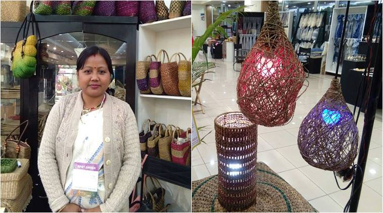 water hyacinth, water hyacinth northeast products, water hyacinth yoga mats, water hyacinth bags, northeast crafts, indian express, indian express news