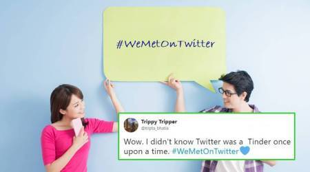 On Valentine's Day, couples share love stories with #WeMetOnTwitter; others share jokes