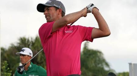 Webb Simpson, Alex Noren share lead in Florida, Tiger Woods shoots even par