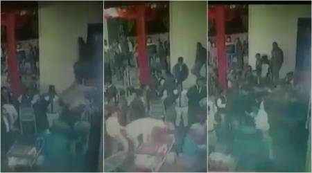 VIDEO: Guests BEAT the DJ at Agra wedding after he STOPS playing the music