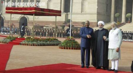 Glimpses from Iran's Hassan Rouhani's day in New Delhi with PM Modi, President Kovind