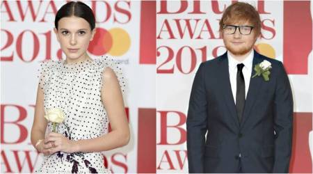 Brit Awards, White roses, Times Up, Me Too, Grammy Awards, Dua Lipa, Ed Sheeran, actresses Reese Witherspoon, Shonda Rhimes, indian express, lifestyle news