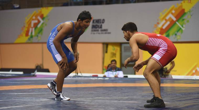 khelo india, khelo india school games, wrestling, wrestling khelo india, sai, sports ministry india, wrestling news, indian express