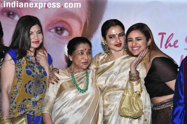 alka yagnik, asha bhosle, rekha and parineeti chopra