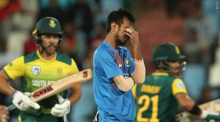 India vs South Africa: Yuzvendra Chahal flounders with the wet ball yet again
