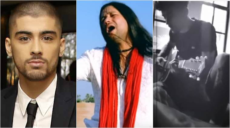 zayn malik, zayn malik singing teri deewani, zayn malik kailash kher, zayn malik singing kailash kher songs, indian express, indian express news