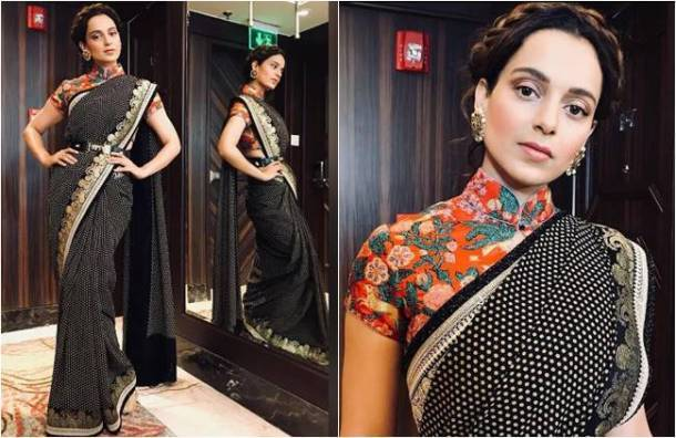 Kangana Ranaut, Happy Birthday Kangana Ranaut, Kangana Ranaut birthday, Kangana Ranaut latest photos, Kangana Ranaut fashion, Kangana Ranaut sari fashion, Kangana Ranaut ethnic fashion, indian express, indian express news