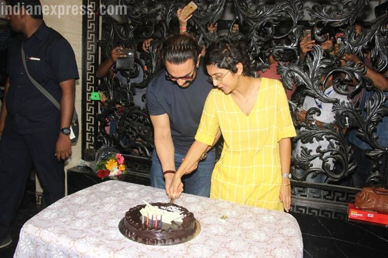 aamir khan birthday celebrations with kiran rao