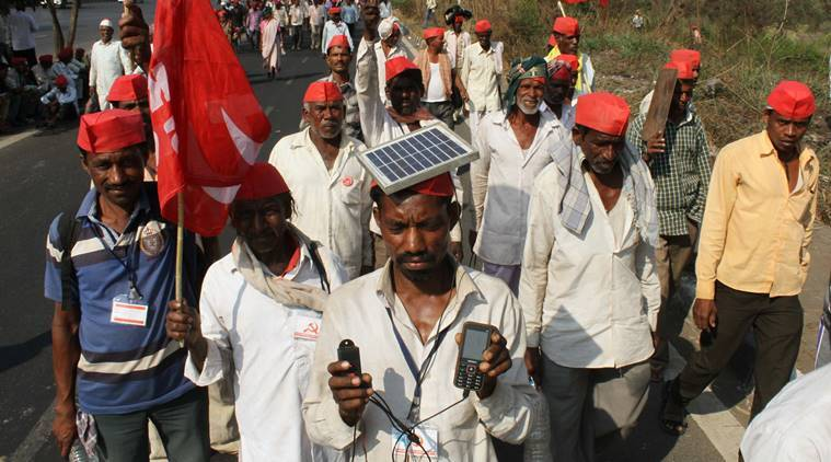 Maharashtra Farmers Protest, Farmers Protests Photos, Mumbai Farmers Protest, Kisaan March, All India Kisan Sabha, AIKS, Kisaan March photos, Mumbai Protest, Farmers March, Indian Express
