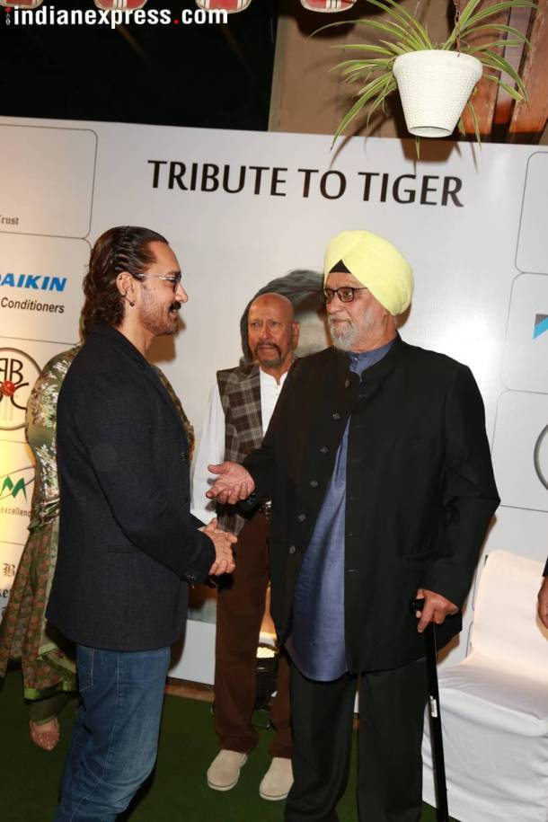 Aamir Khan, bishan singh bedi, tribute to tiger event