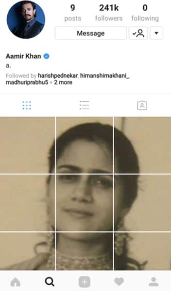 aamir khan Instagram post