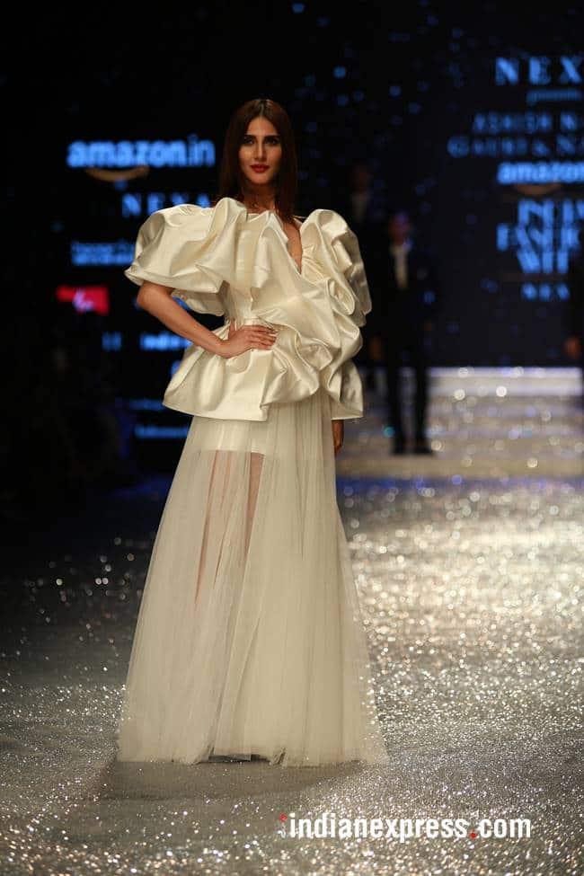 Amazon Fashion Week, Amazon Fashion Week Gauri and Nainka, Amazon Fashion Week Vaani Kapoor, Amazon Fashion Week Diana Penty, Amazon Fashion Week Shyamal and Bhumika, Amazon Fashion Week latest photos, Amazon Fashion Week Abraham and Thakore, indian express, indian express news