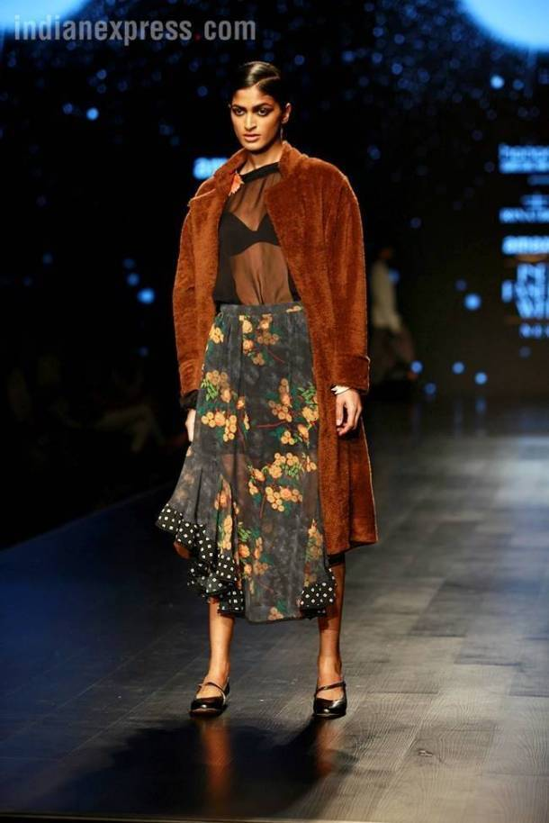 Amazon Fashion Week 2018, AIFW 2018, AIFW Rina Dhaka show, Rina Dhaka indian express, indian express news, Amazon India Fashion Week Autumn Winter 2018, Rina Dhaka Autumn Winter collection, rina dhaka fashion show
