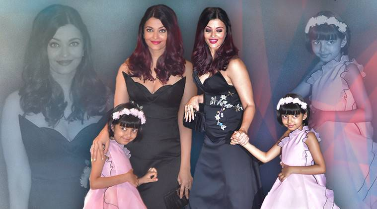 Aishwarya Rai Bachchan, Aishwarya Rai Bachchan latest photos, Aishwarya Rai Bachchan fashion, Aishwarya Rai Bachchan Ambani engagement bash, Aishwarya Rai Bachchan Osman studio gown, indian express, indian express news
