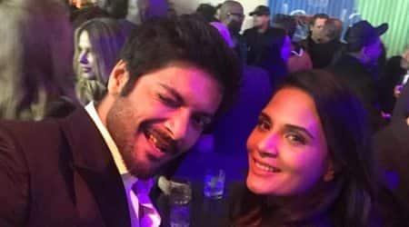 Ali Fazal, Richa Chadha attend pre-Oscar party, seephoto