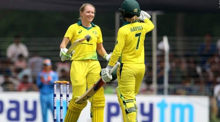 Australia Women scored 332/7 in 50 overs.