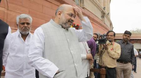 BJP chief Amit Shah mistakenly takes Yeddyurappa's name instead of Siddaramaiah while attacking the Congress in Karnataka