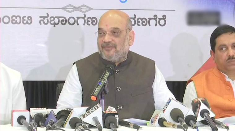 Amit Shah scores a goal for the opposite team, Congress celebrates
