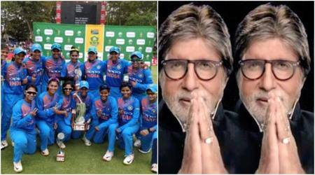 Amitabh Bachchan gets trolled for error while congratulating Indian women cricketteam