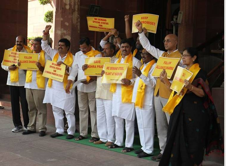 TDP pulls out ministers from the Modi government, to affect NDA in 2019