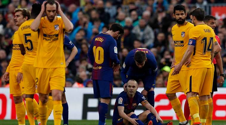 Andres Iniesta, Andres Iniesta Barcelona, Andres Iniesta injury, Barcelona vs Chlesea, Champions League, sports news, football, Indian Express