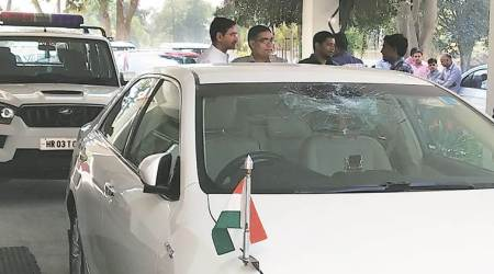Two held for pelting stones at Anil Vij's car in Panipat