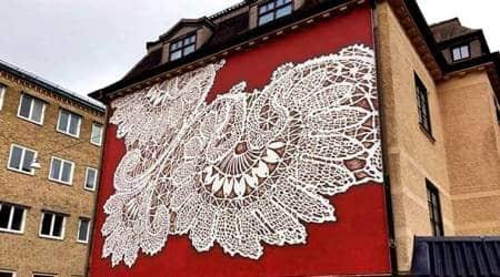 NeSpoon, NeSpoon facebook, NeSpoon street artist, NeSpoon lace artist, NeSpoon colours walls of city, NeSpoon street art, pottery and jewellery, NeSpoon Mumbai, NeSpoon goa pictures, pictures of the street artist, Indian express, Indian express news