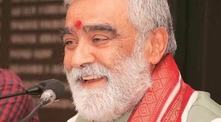 ashwini kumar choubey, union minister of state of health, ink thrown at ashwini kumar choubey, indian express