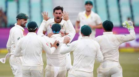 Swinging Mitchell Starc moves Australia one wicket from victory against South Africa