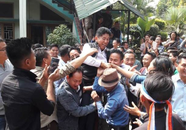 nagaland election results, naga peoples front images, npf nagaland, nagaland election photos, tripura election result images, tripura election images, meghalaya election result 2018 pictures, northeast polls pics, tripura assembly poll result 2018 pictures, indian express