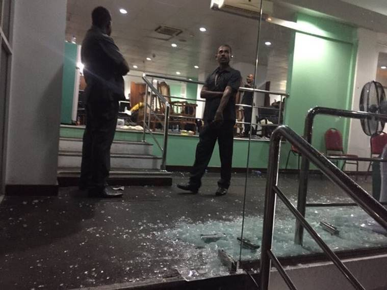 bangladesh dressing room & Nidahas Trophy: Bangladesh dressing room glass door allegedly broken ...