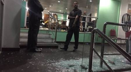 Nidahas Trophy: Bangladesh dressing room glass door allegedly broken by players