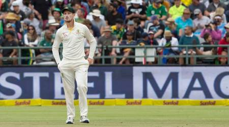 Cameron Bancroft cleared of serious injury after being hit inthroat