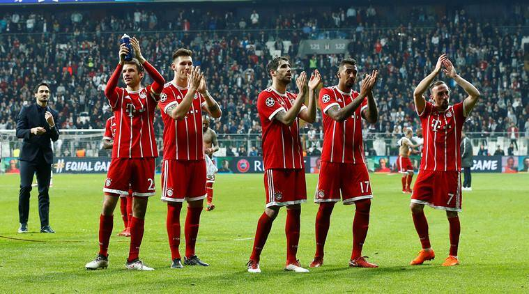 Bayern Munich breeze into last eight of Champions League with record 8-1 aggregate win