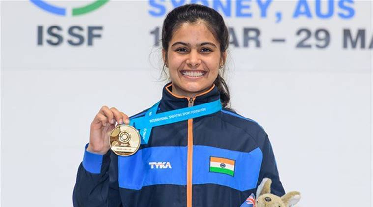 Manu Bhaker at ISSF Junior World Cup in Sydney