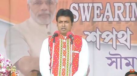 Tripura swearing-in LIVE UPDATES: BJP's Biplab Deb takes oath as CM, PM Modi says historic day for state