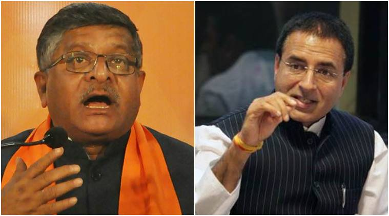 Rahul says Law Minister 'peddling fake news', Prasad hit back