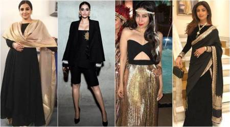 Sonam, Shilpa, Vidya, Karisma show us how to wear our favourite black and gold combo